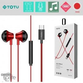 Ecouteur type-c intra-auriculaire - Rouge TOTU EAUA-027
