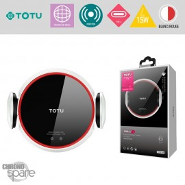 Support voiture induction 15W blanc TOTU