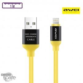 Câble PePs Lightning - Jaune
