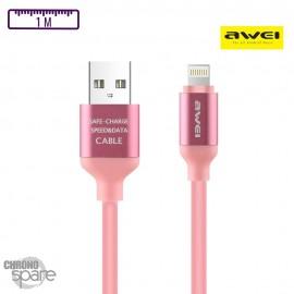 Câble PePs Lightning - Rose
