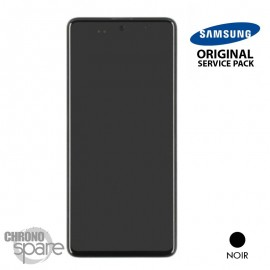 Ecran LCD + Vitre Tactile + châssis noir Samsung Galaxy A51 A515F (officiel)