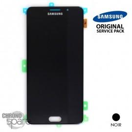 Ecran LCD + Vitre tactile noire (officiel) Samsung A7 2016 SM-A710F