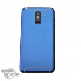 Vitre arrière +vitre caméra Noire Samsung Galaxy A6 Plus 2018 A605F