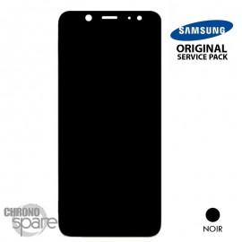 Ecran LCD + vitre tactile Noir Samsung Galaxy A6 (officiel)