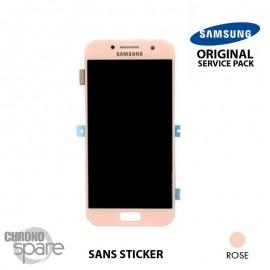 Vitre tactile + Ecran LCD Samsung Galaxy A3 2017 A320F (officiel) GH97-19732D Rose