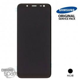 Ecran LCD + Vitre tactile noir (officiel) Samsung J6+2018 J610F
