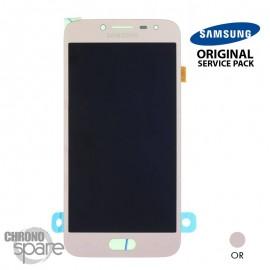 Ecran LCD + Vitre Tactile Or Samsung J2 Pro 2018 J250 (officiel)