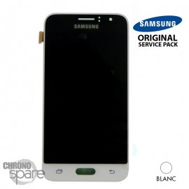 Ecran LCD + Vitre Tactile Blanc Samsung J1 2016 J120F (officiel) GH97-18224A