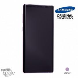 Vitre tactile et écran LCD Samsung Galaxy Note 9 SM-N960 (officiel) Mauve Orchidée