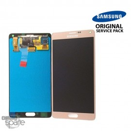Vitre tactile et écran LCD Samsung Galaxy Note 4 N910F Or GH97-16565C (officiel)