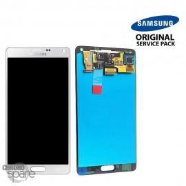Vitre tactile et écran LCD Samsung Galaxy Note 4 N910F Blanc GH97-16565A (officiel)