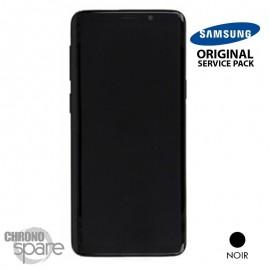 Ecran LCD + Vitre Tactile + châssis noir Samsung Galaxy S9 G960F (officiel)