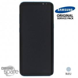 Ecran LCD + Vitre Tactile bleu Samsung Galaxy S8 Plus G955F (officiel)