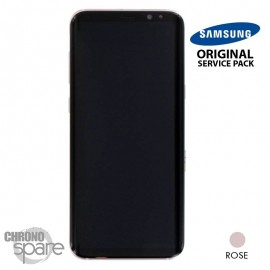 Ecran LCD + Vitre Tactile rose Samsung Galaxy S8 Plus G955F (officiel)