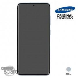 Ecran LCD + Vitre Tactile + châssis bleu Samsung Galaxy S20 (officiel)