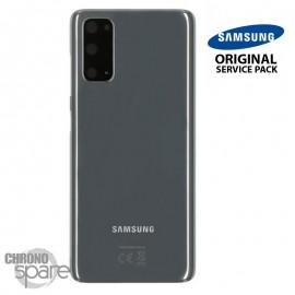 Vitre arrière + vitre caméra gris Samsung Galaxy S20 (Officiel)