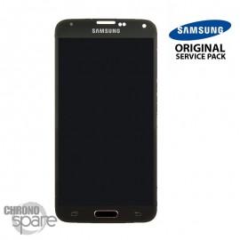Vitre tactile et écran LCD Galaxy S5 Mini or G800F GH97-16147D (officiel)
