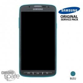 Ecran LCD + Vitre Tactile + Châssis Samsung Galaxy S4 Active I9295 Bleu (Officiel) GH97-14743B