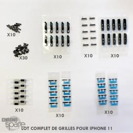 (lot de 10)Grille écouteur + haut-parleur+ micro iphone XS MAX/ earmesh