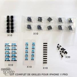 (lot de 10)Grille écouteur + haut-parleur+ micro iphone 11/ earmesh