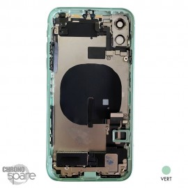 Chassis iPhone 11 vert - avec nappes