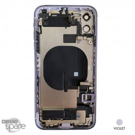 Chassis iPhone 11 violet - avec nappes
