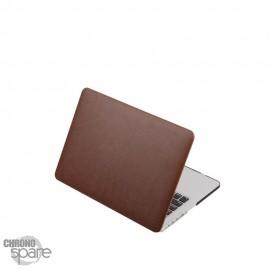 Coque de Protection PU imitation cuir Marron - MacBook Air 13.3