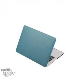 Coque de Protection PU imitation cuir Turquoise - MacBook Air 13.3