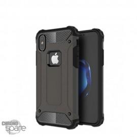 Coque renforcée bi-matière Iphone XS - Gris