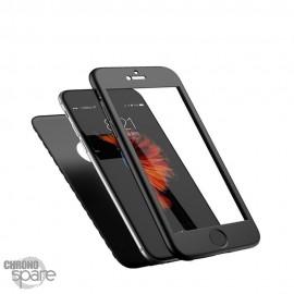 Coque 360 Noir Protection Intégrale + verre trempé iPhone 6 Plus/6S Plus