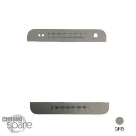 Sticker Gris Metal Haut et Bas HTC One Mini