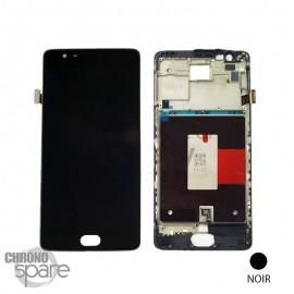 Ecran LCD + Vitre tactile noire + Châssis OnePlus 3 / One plus 3T EU version (officiel)