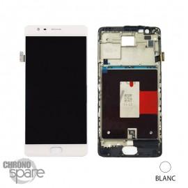 Ecran LCD + Vitre tactile blanche + Châssis OnePlus 3 / One plus 3T EU version A3003 (officiel)