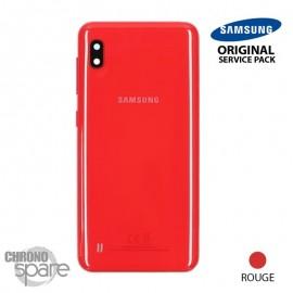 Vitre arrière + vitre caméra Rouge Samsung Galaxy A10 A105FN (Officiel)