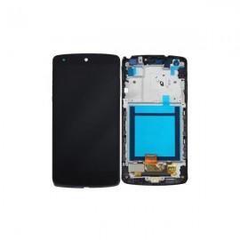 Ecran LCD + vitre tactile + châssis Nexus 5 d820 Noir Officiel ACQ86661402