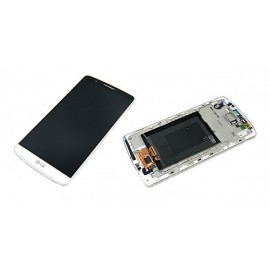 Ecran LCD + vitre tactile + châssis LG G3 D855 Blanc (officiel) ACQ87190301