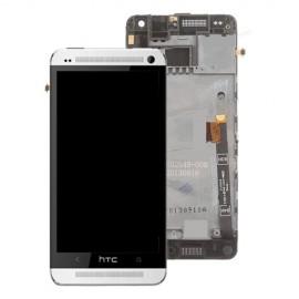 Vitre tactile et écran LCD avec châssis HTC One Mini Gris