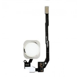 Nappe bouton Home iPhone 5s avec capteur digital (Touch ID) blanc