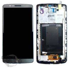 Ecran LCD + vitre tactile + châssis LG G3 D855 Noir (Compatible AAA)
