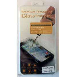 Vitre de protection en verre trempé iPhone 5/5c/5s avec Boîte