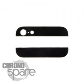 Cache vitre arrière haut et bas noire iPhone 5