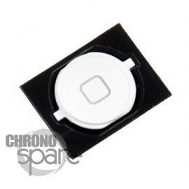 Bouton home blanc iPhone 4S avec contour plastique