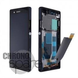 Ecran LCD et Vitre tactile avec chassis Noir Xperia Z