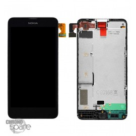 LCD + Vitre tactile + chassis Nokia Lumia 630-635 Noir