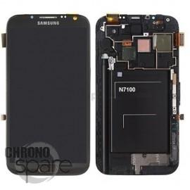 Vitre tactile et écran LCD Samsung Galaxy Note 2 N7100 gris (officiel) GH97-14112B