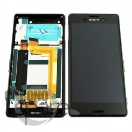 Ecran LCD + Vitre tactile Noire Sony Xperia M4 Aqua E2333 (officiel)
