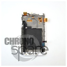 Ecran LCD + Vitre Tactile + Chassis Galaxy Note 2 N7000 Gris/Noir (Compatible AAA)