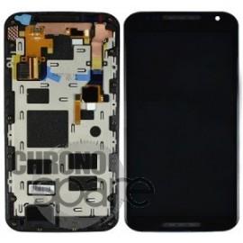 Ecran LCD + Vitre tactile Noire + châssis Motorola XT1092