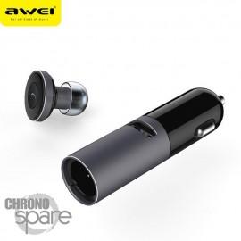 Oreillette Bluetooth Awei A870BL Gris Sidéral