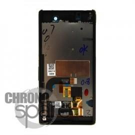 Ecran LCD et Vitre Tactile Noire Sony Xperia M5 E5603 (officiel) 191HLY0003B-BCS